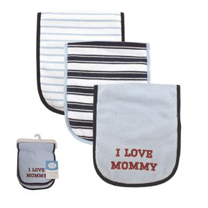 I Love Burp Cloth 3pk, baby neutral