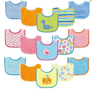 Applique/Print Bib 5 pk, baby neutral