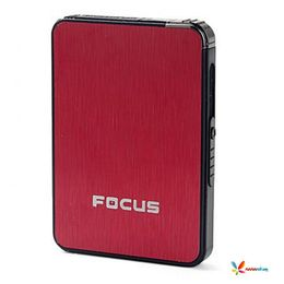 2 in 1 Ultra thin Automatic Ejection Cigarette Case with Lighter, red