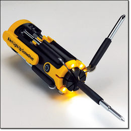 New 8-in-1 Multi-Function Screwdriver Tool Kit with 7 LED Powerful Torch