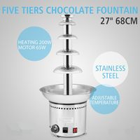 The Urban Kitchen 5 Layer COMMERCIAL CHOCOLATE FOUNTAIN CHOCOLATE FONDUE MACHINE
