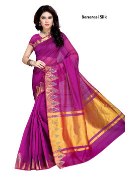 Purple Colour Banarasi silk Saree