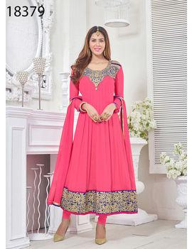 Ruhabs Pink Colored Georgette Suit.