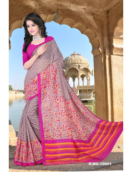 Mauve Colour Soft Cotton Saree