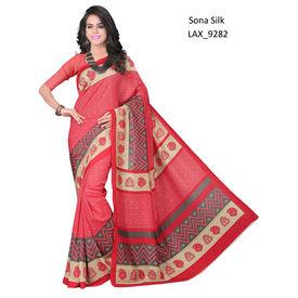 Ruhabs Red colour Sona Silk Saree