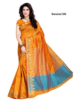 Yellow Colour Banarasi silk Saree