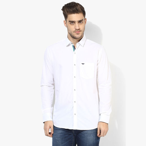 Park Avenue Solid Slim Fit Shirt, xxl,  white