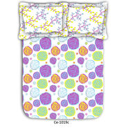 Floral printed luxury cotton double bed sheet