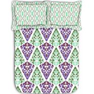 Abstract printed colorful luxury cotton bed sheet