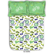 Hipster inspired printed cotton double bed sheet
