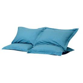 Sateen Stripes Cyan Pillow Cover Set