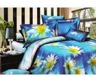 Welhouse Cotton Double Bedsheet with 2 Pillow Cover (NGL-032), multicolour