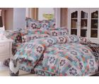 Welhouse Cotton Double Bedsheet with 2 Pillow Cover (NGL-012), multicolour