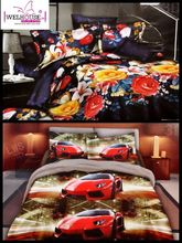 Welhouse India Lovely Multi Floral Print 2 Double Bed Sheet & 4 Pillow Covers(AZR098), multicolor