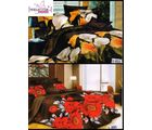 Welhouse India Multicolor Floral Print 2 Double Bed Sheet & 4 Pillow Covers (AZR086), multicolor