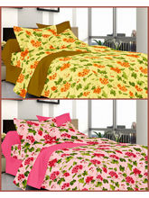 Welhouse Summer Special 2 Double Bed Sheets with 4 Pillow Covers (MTYTDC216)