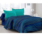 Welhouse & Stripes Design Super Soft Feeling Double Bedsheet With 2 Contrast Pillow Cover-Best Tc-175, purple