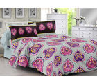 Welhouse & Floral Design Super Soft Feeling Double Bedsheet With 2 Contrast Pillow Cover-Best Tc-175, grey