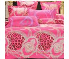 Welhouse India Embroidered Design Cotton King Bedsheet With two pillow cover (AZR052), multicolor