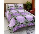 Welhouse India Premium 3D Double Bed Sheet With 2 Pillow Cover (TRT-034), multicolor