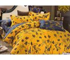 Welhouse India Stylish Print Cotton King Bedsheet with two pillow covers (AZR037), multicolor