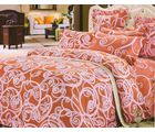 Welhouse India Ikat Design Cotton King Bedsheet With two pillow cover (AZR053), multicolor