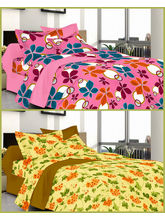 Welhouse Summer Special 2 Double Bed Sheets with 4 Pillow Covers (MTYTDC218)