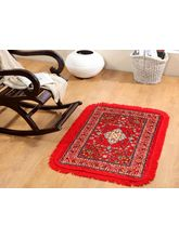 Welhouse India Traditional Design Prayer Mat (PRYT-002), red