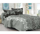 Welhouse & Natural Design Super Soft Cotton Double Bedsheet With 2 Contrast Pillow Cover-Best Tc 175, grey