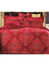 Welhouse India Traditional Design Cotton King Bedsheet With two pillow cover (AZR043), multicolor