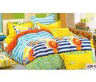 Welhouse India Artistic Cartoonish Print Cotton King Bedsheet with two pillow covers (AZR010), multicolor