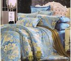 Welhouse India Damask Design Cotton King Bedsheet With two pillow cover (AZR044), multicolor