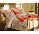 Welhouse India Decorative Print Cotton King Bedsheet with two pillow covers (AZR028), multicolor