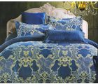 Welhouse India Traditional Design Cotton King Bedsheet With two pillow cover (AZR045), multicolor