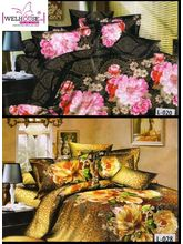 Welhouse India Lovely Multi Floral Print 2 Double Bed Sheet & 4 Pillow Covers(AZR089), multicolor