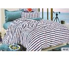 Welhouse India Star Print Cotton King Bedsheet with two pillow covers (AZR027), multicolor