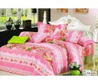 Welhouse Cotton Double Bedsheet with 2 Pillow Cover (TT-001), multicolour