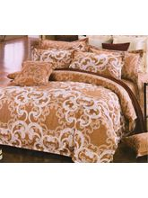 Welhouse India Traditional Design Cotton King Bedsheet With two pillow cover (AZR039), multicolor