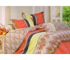 Welhouse Cotton Double Bedsheet with 2 Pillow Cover (NGL-010), multicolour
