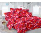 Welhouse Floral Design Double Bedsheet With 2 Pillow Cover -Tc-140 MO_ 7759-B, purple