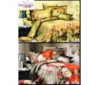 Welhouse India Lovely Multi Floral Print 2 Double Bed Sheet & 4 Pillow Covers(AZR094), multicolor