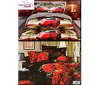 Welhouse India Lovely Multi Floral 2 Double Bed Sheet & 4 Pillow Covers (AZR083), multicolor