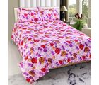 Welhouse India Premium 3D Double Bed Sheet With 2 Pillow Cover (TRT-022), multicolor