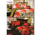 Welhouse India Lovely Floral Print 2 Double Bed Sheet & 4 Pillow Covers (AZR082), multicolor