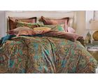 Welhouse India Traditional Print Cotton King Bedsheet with two pillow covers (AZR032), multicolor