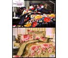 Welhouse India Lovely Multi Floral Print 2 Double Bed Sheet & 4 Pillow Covers(AZR099), multicolor
