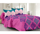 Welhouse & Traditional Design Super Soft Feeling Double Bedsheet With 2 Contrast Pillow Cover-Best Tc-175, purple