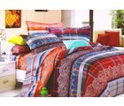 Welhouse Cotton Double Bedsheet with 2 Pillow Cover (NGL-029), multicolour