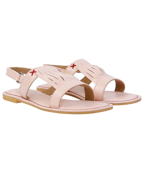 Gush Peach Cage Sandals, pink, 6