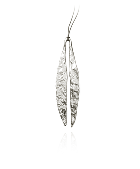 MD Quarry Leaf Pendant, silver